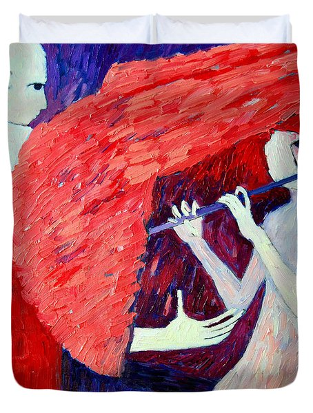 Singing To My Angel 1 Duvet Cover by Ana Maria Edulescu