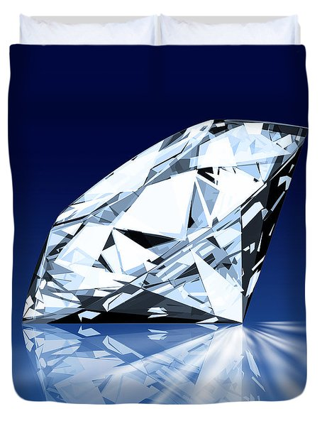 single blue diamond Duvet Cover by Setsiri Silapasuwanchai