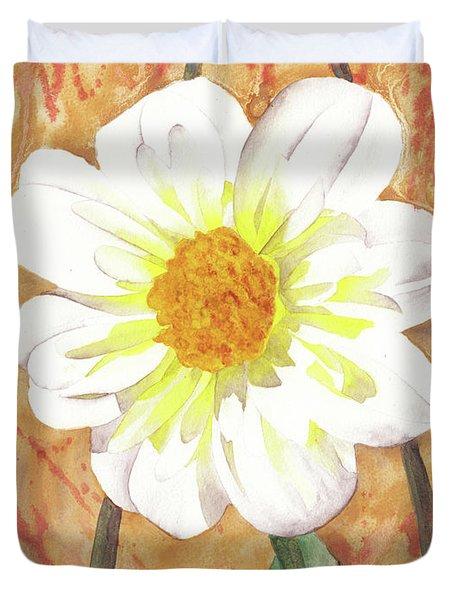 Single White Flower Duvet Cover by Ken Powers