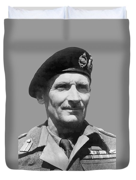 Sir Bernard Law Montgomery  Duvet Cover by War Is Hell Store