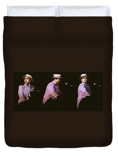 Sir Elton John 3 Duvet Cover by Dragan Kudjerski