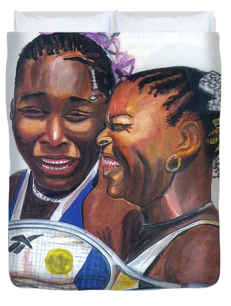 Sisters Williams Duvet Cover by Emmanuel Baliyanga