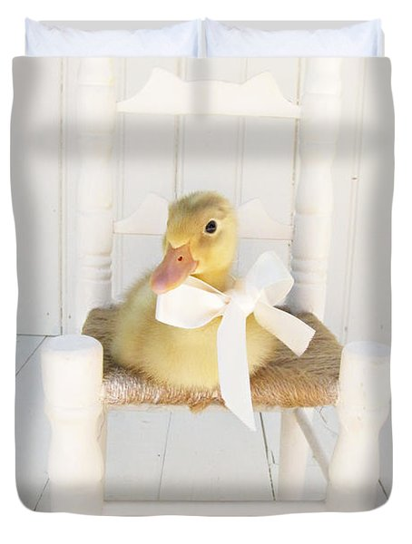 Sitting Pretty Duvet Cover by Amy Tyler