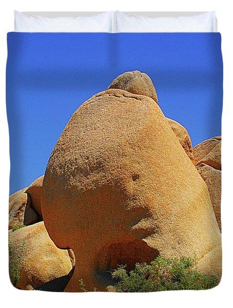 Skull Rock Joshua Tree National Park California Duvet Cover by Christine Till