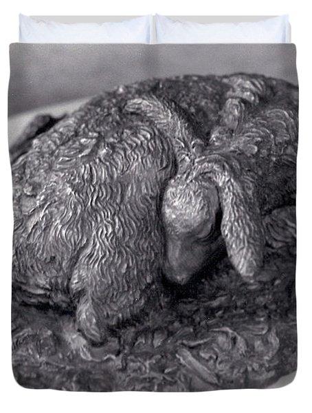 Sleeping Fawn Duvet Cover by Dawn Senior-Trask