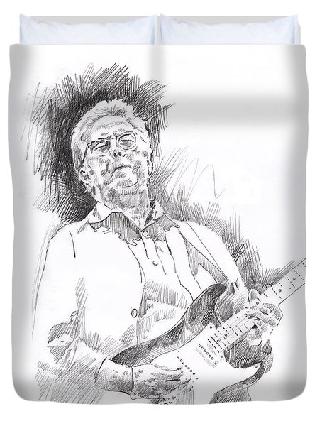 Slowhand Duvet Cover by David Lloyd Glover