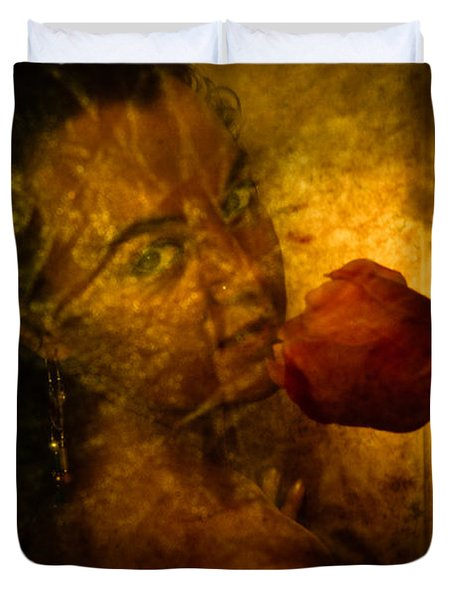 Smelling The Flowers Duvet Cover by Scott Sawyer