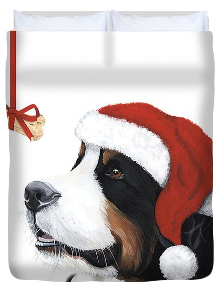 Smile Its Christmas Duvet Cover by Liane Weyers