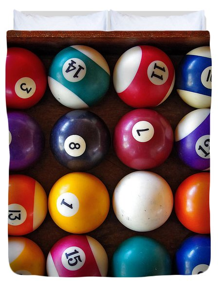Snooker Balls Duvet Cover by Carlos Caetano