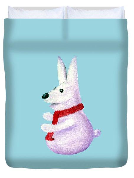 Snow Bunny Duvet Cover by Anastasiya Malakhova
