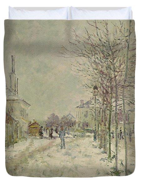 Snow Effect Duvet Cover by Claude Monet