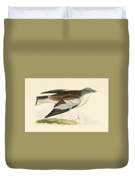 Snow Finch Duvet Cover by English School