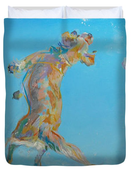Snow Much Fun Duvet Cover by Kimberly Santini