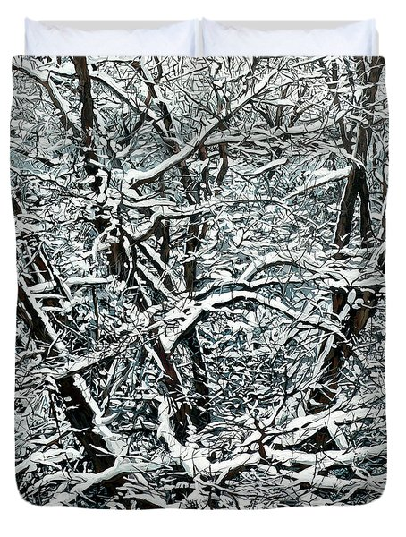 Snow Tree Duvet Cover by Nadi Spencer