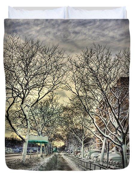 Snowbound Duvet Cover by Evelina Kremsdorf