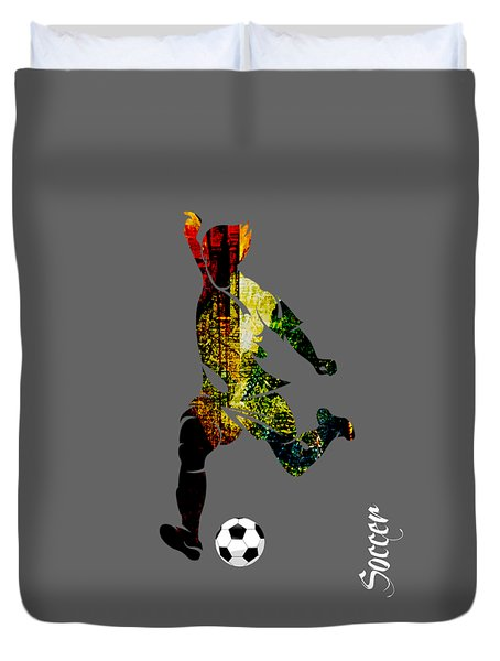 Soccer Collection Duvet Cover by Marvin Blaine