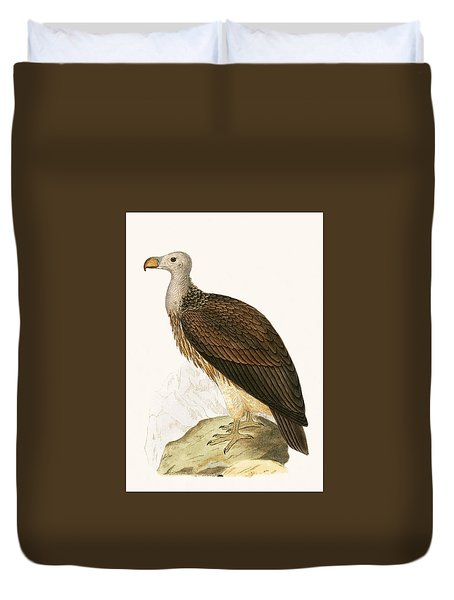 Sociable Vulture Duvet Cover by English School