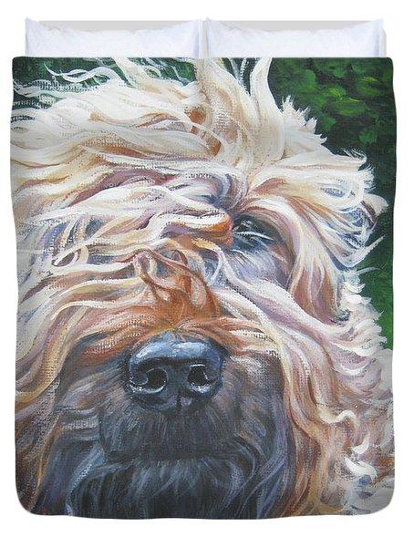 Soft Coated Wheaten Terrier Duvet Cover by Lee Ann Shepard