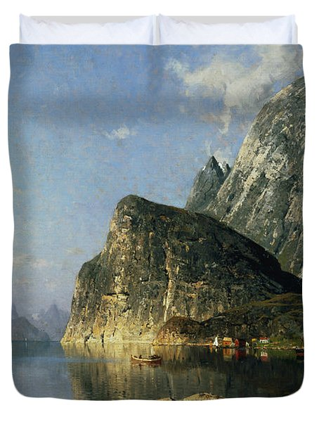 Sogne Fjord Norway  Duvet Cover by Adelsteen Normann