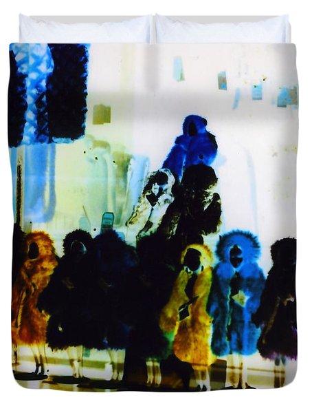 Soho Shop Window Duvet Cover by Karin Kohlmeier
