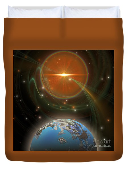 Solar Message Duvet Cover by Corey Ford
