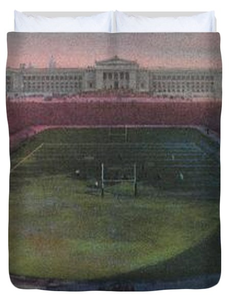 Soldier Field Duvet Cover by American School