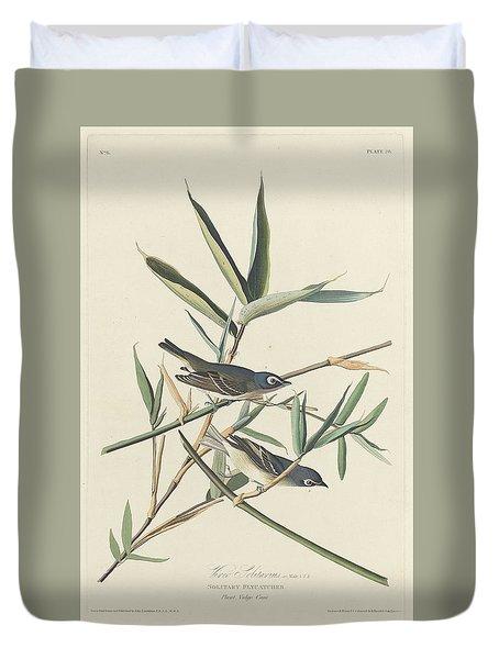 Solitary Flycatcher Duvet Cover by John James Audubon