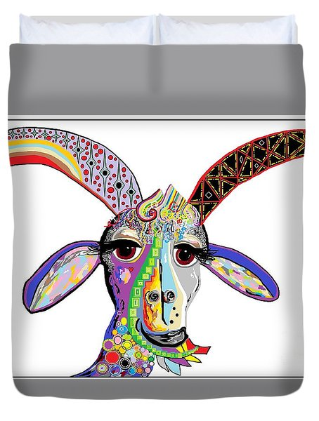 Somebody Got Your Goat? Duvet Cover by Eloise Schneider