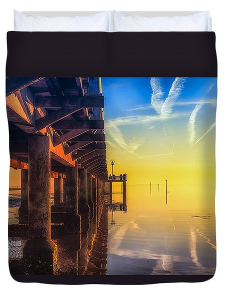 Duvet Cover featuring the photograph Somewhere Else by Thierry Bouriat