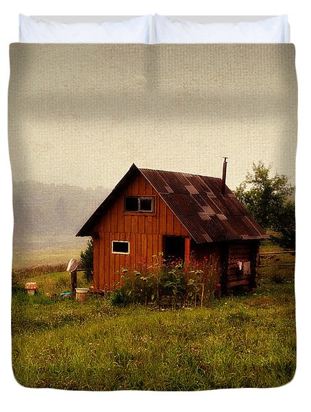 Somewhere In The Countryside. Russia Duvet Cover by Jenny Rainbow
