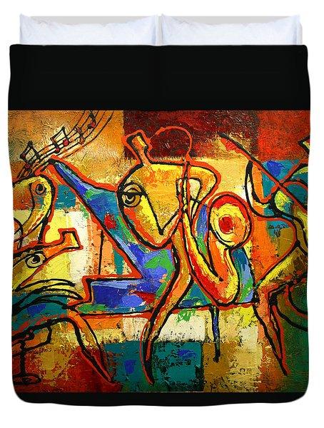 Soul Jazz Duvet Cover by Leon Zernitsky