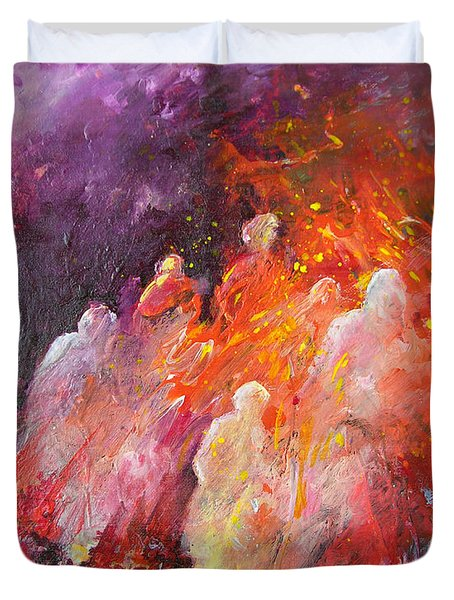 Souls in Hell Duvet Cover by Miki De Goodaboom