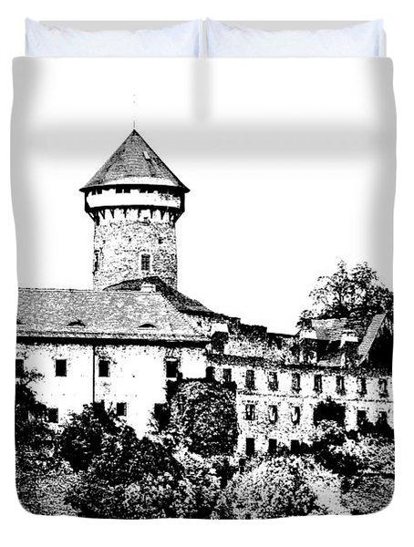Sovinec - Castle Of The Holy Order Duvet Cover by Michal Boubin
