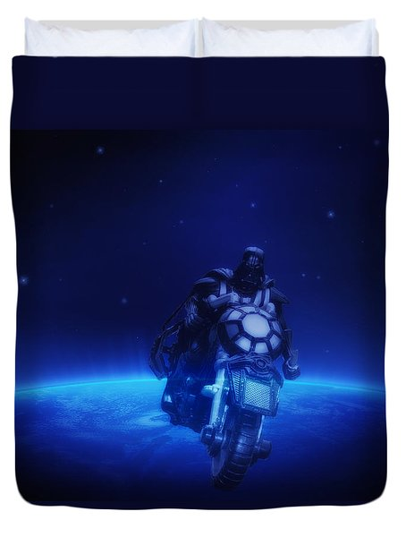 Space Cowboy Duvet Cover by Bill Cannon