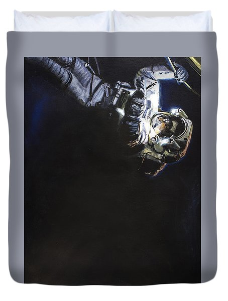 Spacewalk 1  Duvet Cover by Simon Kregar