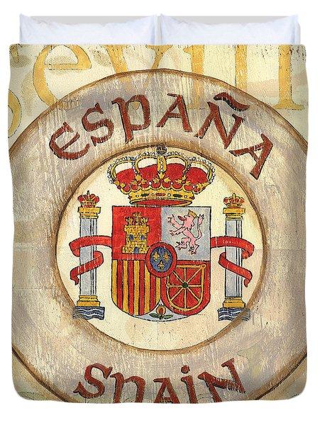 Spain Coat Of Arms Duvet Cover by Debbie DeWitt