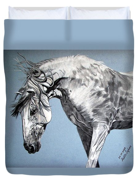 Spanish Horse Duvet Cover by Melita Safran