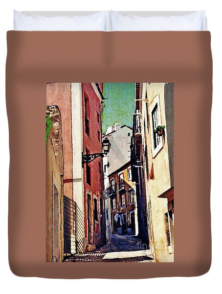 Spanish Town Duvet Cover by Sarah Loft