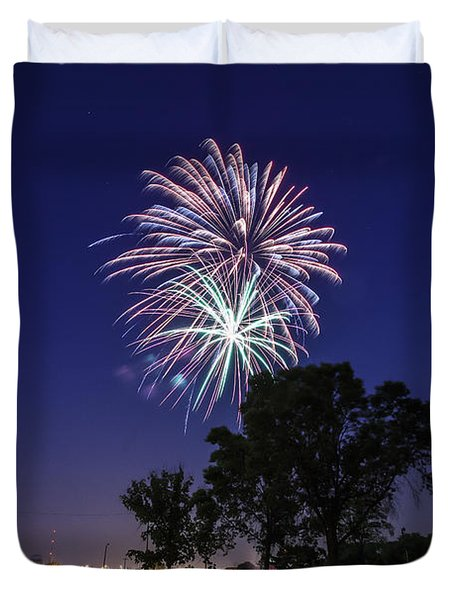 Spark and Bang Duvet Cover by CJ Schmit