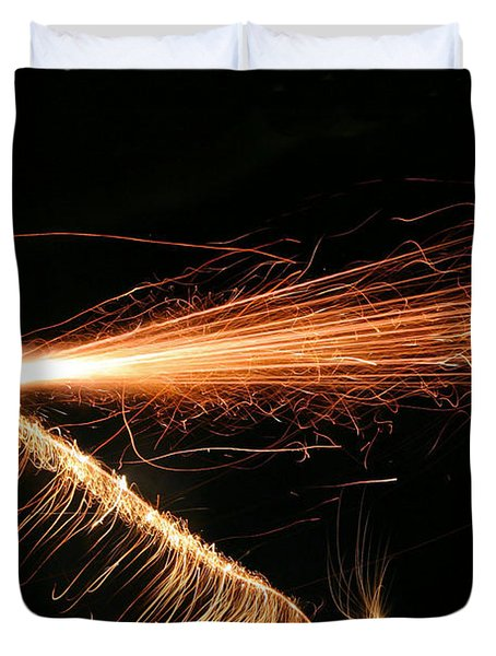 Sparks Will Fly Duvet Cover by Kristin Elmquist