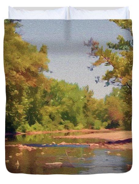 Spavinaw Creek Duvet Cover by Jeff Kolker