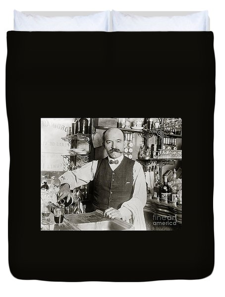 Speakeasy Bartender Duvet Cover by Jon Neidert