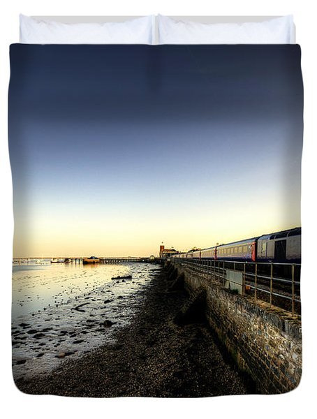 Speeding Thro Starcross Duvet Cover by Rob Hawkins