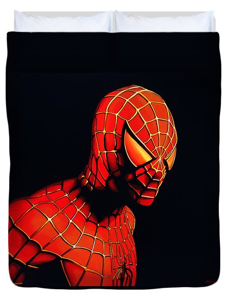 Spiderman Duvet Cover by Paul Meijering