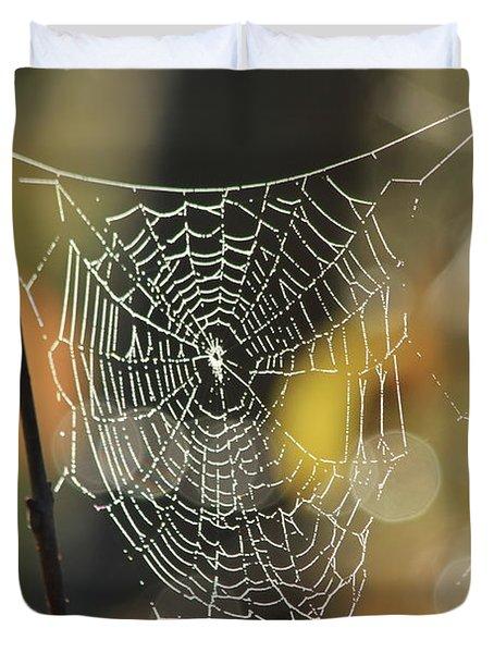 Spider's Creation Duvet Cover by Karol Livote