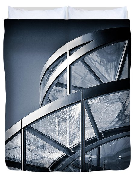 Spiral Staircase Duvet Cover by Dave Bowman