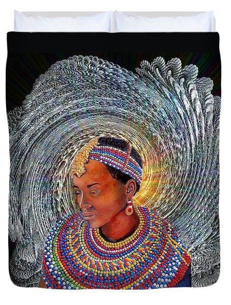 Spirit Of Africa Duvet Cover by Michael Durst