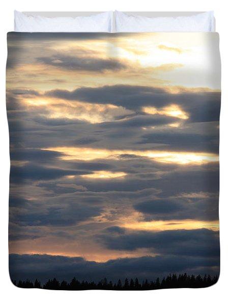 Spokane Sunset - Give God The Glory Duvet Cover by Carol Groenen