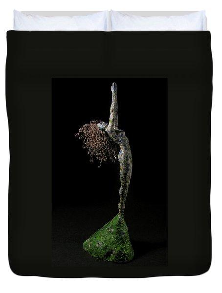 Spring A Sculpture By Adam Long Duvet Cover by Adam Long