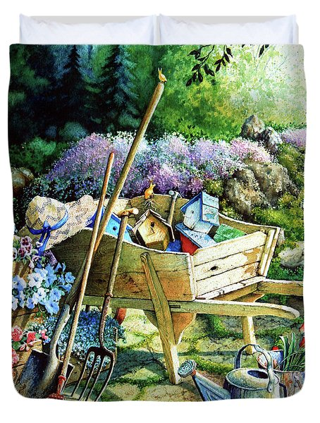 Spring At Last Duvet Cover by Hanne Lore Koehler